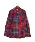 COMME des GARCONS SHIRT BOY(コムデギャルソンシャツ ボーイ)の古着「チェックL/Sシャツ」 レッド×ネイビー