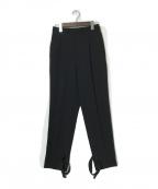 LE PHIL(ル フィル)の古着「トリアセダブルクロス パンツ」 ブラック