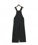 SLOBE IENA(スローブ イエナ)の古着「サイドポケットオーバーオール」|ブラック