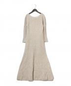 HER LIP TO(ハーリップトゥ)の古着「ホールガーメントニットドレス」|ベージュ