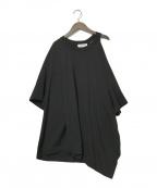 Maison Margiela(メゾンマルジェラ)の古着「20SS オーバーサイズ アシンメトリー Tシャツ」 ブラック