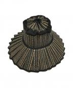 LORNAMURRAY(ローナマーレイ)の古着「ISLAND CAPRI ハット」 ネイビー×ベージュ
