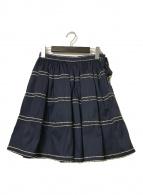 ()の古着「ステッチフレアスカート」 ネイビー