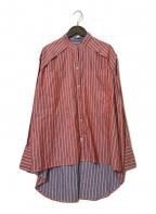 RITO()の古着「リバーシブルストリプシャツ」 レッド×ブルー
