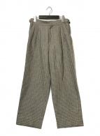 ()の古着「ストリップベルテッド2Pパンツ」 グレー