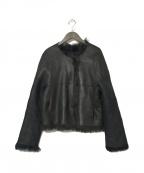 yves salomon(イヴサロモン)の古着「シープファージャケット」|ブラック