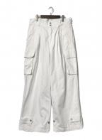 BACK NUMBER(バックナンバー)の古着「M-47カーゴパンツ」 ホワイト