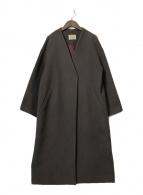 ()の古着「MANTECO ノーカラーコート」 パープル