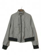 NEON SIGN(ネオンサイン)の古着「19SS チェックジップジャケット」|ホワイト×ブラック