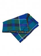 pierre-louis mascia(ピエールルイマシア)の古着「チェックシルクスカーフ」|ブルー×ブラウン