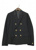 5351 pour les hommes(5351プールオム)の古着「金釦ダブルジャケット」|ブラック