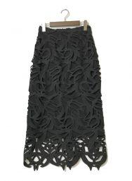 CELFORD (セルフォード) チューリップレーススカート ブラック サイズ:38