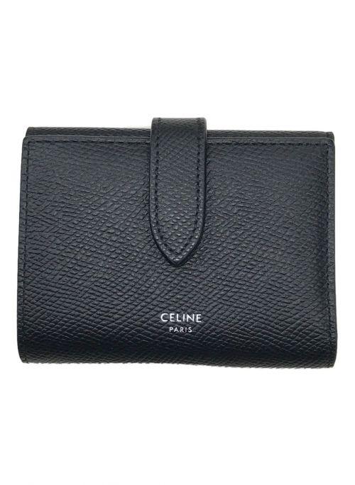 CELINE(セリーヌ)CELINE (セリーヌ) ファインストラップウォレット ブラックの古着・服飾アイテム