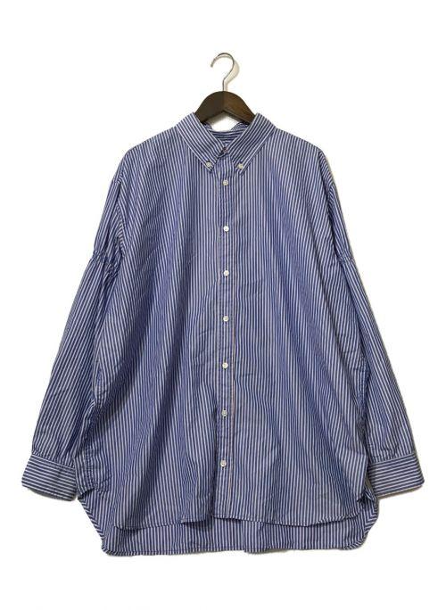 WILLY CHAVARRIA(ウィリーチャバリア)WILLY CHAVARRIA (ウィリーチャバリア) ストライプシャツ ブルー サイズ:Mの古着・服飾アイテム