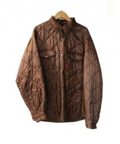 MARMOT(マーモット)の古着「中綿キルティングシャツ」|ブラウン