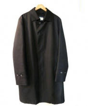 MACKINTOSH PHILOSPHY(マッキントッシュ フィロソフィー)の古着「比翼ステンカラーコート」|ブラック