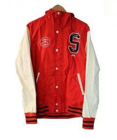 STUSSY(ステューシー)の古着「nylon Varsity Jacket」|レッド