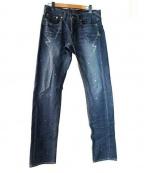 Francis T MOR.K.S(フランシストモークス)の古着「デニムパンツ」|ブルー