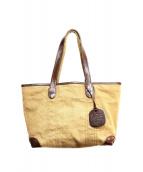 genten(ゲンテン)の古着「レザー使いキャンバスハンドバッグ」
