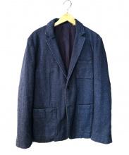 JOURNAL STANDARD relume(ジャーナルスタンダード レリューム)の古着「ウール混テーラードジャケット」|インディゴ