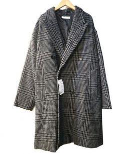 BEAUTY&YOUTH(ビューティアンドユース)の古着「ラムウールダブルチェスターコート」|ブラック