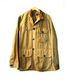 POLO RALPH LAUREN(ポロ ラルフローレン)の古着「ラムレザー使いハンティングジャケット」|ブラウン