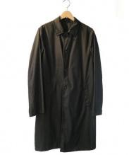 PRADA(プラダ)の古着「ステンカラーコート」|ブラック