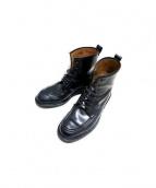 GUCCI(グッチ)の古着「6ホールUチップブーツ」|ブラック