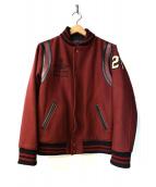 CUT-RATE(カットレイト)の古着「WOOL STADIUM JAMPER」|ボルドー