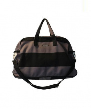 marimekko(マリメッコ)の古着「2wayボストンバッグ」|ブラック×グレー