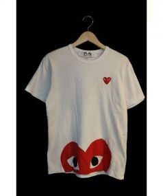 PLAY COMME des GARCONS(プレイコムデギャルソン)の古着「Play Heart Face T-Shirt」|ホワイト