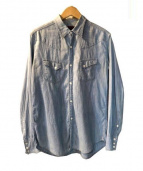 BRU NA BOINNE(ブルーナボイン)の古着「蝙蝠シャツ」 スカイブルー