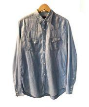 BRU NA BOINNE(ブルーナボイン)の古着「蝙蝠シャツ」|スカイブルー