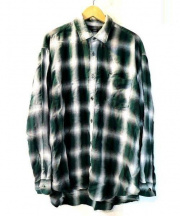 Rags McGREGOR(ラグス マクレガー)の古着「OMBRE CHECK SHIRTS」|グリーン