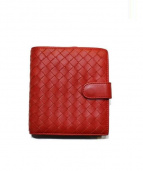 BOTTEGA VENETA(ボッテガベネタ)の古着「2つ折り財布」|レッド