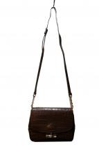 LONGCHAMP(ロンシャン)の古着「型押しショルダーバッグ」|ブラウン