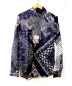 Alexander McQueen(アレキサンダー マックイーン)の古着「総柄バンダナシャツ」 ネイビー