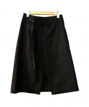 GROUND Y(グラウンド ワイ)の古着「ラップスカート」|ブラック