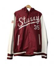 STUSSY(ステューシー)の古着「Squad Varsity III Jacket」|レッド
