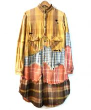 KAPITAL(キャピタル)の古着「パッチワークシャツワンピース」|ブラウン