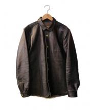 tenjinworks(天神ワークス)の古着「スナップレザーシャツ」 ブラウン