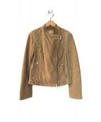 ALLSAINTS(オールセインツ)の古着「スウェードレザージャケット」|ブラウン
