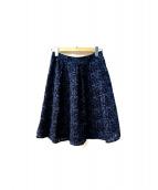 ANAYI(アナイ)の古着「フレアレーススカート」|ネイビー