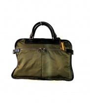F.CLIO(エフクリオ)の古着「ビジネスバッグ」 カーキ