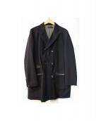 far eastern enthusiast(ファーイースタン エンスージアスト)の古着「ダブルチェスターコート」|ブラック
