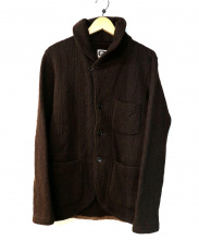 Engineered Garments(エンジニアードガーメンツ)の古着「Shawl Collar Knit Jacket」|ブラウン
