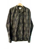 ESTNATION(エストネーション)の古着「ボタニカル柄オープンカラーシャツ」
