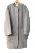 IENA(イエナ)の古着「メルトンノーカラーコート」