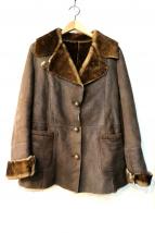 MARCELLO PAMPALONI(マルセロ パンパローニ)の古着「ムートンジャケット」|ブラウン