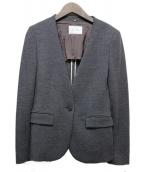 BEIGE(ベイジ)の古着「ノーカラージャケット」|ネイビー